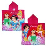 Disney Princess Dark Pink Hooded Poncho Towel